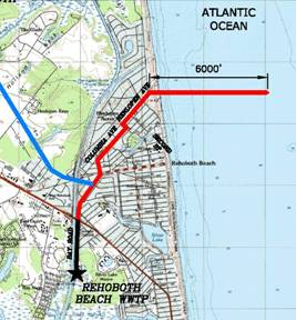 Rehoboth Beach Effluent Disposal Study: Evaluation of Wastewater Discharge Alternatives