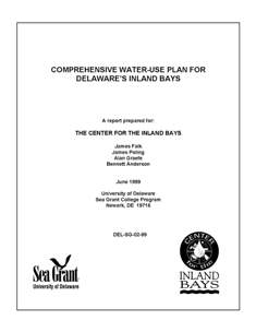 The Comprehensive Wateruse Plan for Delaware's Inland Bays