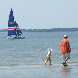 Family Enjoys the Waters of the Rehoboth Bay