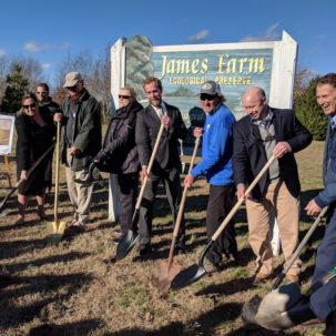 Delaware Center for the Inland Bays Breaks Ground  on James Farm Preserve Improvements