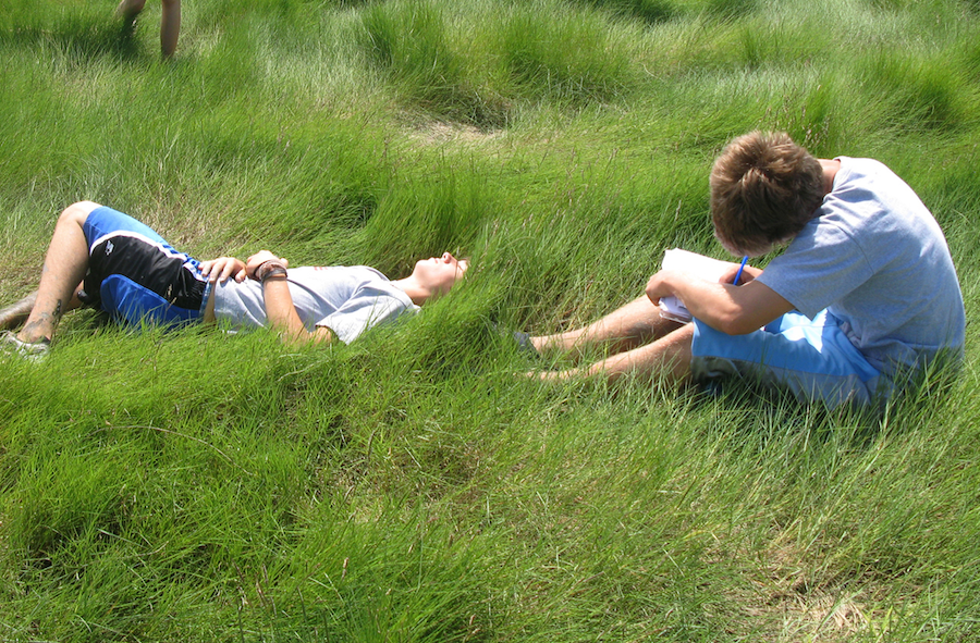 Kids in high marsh by by Westbranchsandy (Own work) CC liscence via wikimedia