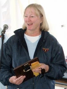 Pat Drizd receives her award (2006)