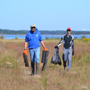 Little Assawoman Bay Clean-Up Removes 1.35 tons of Marine Trash