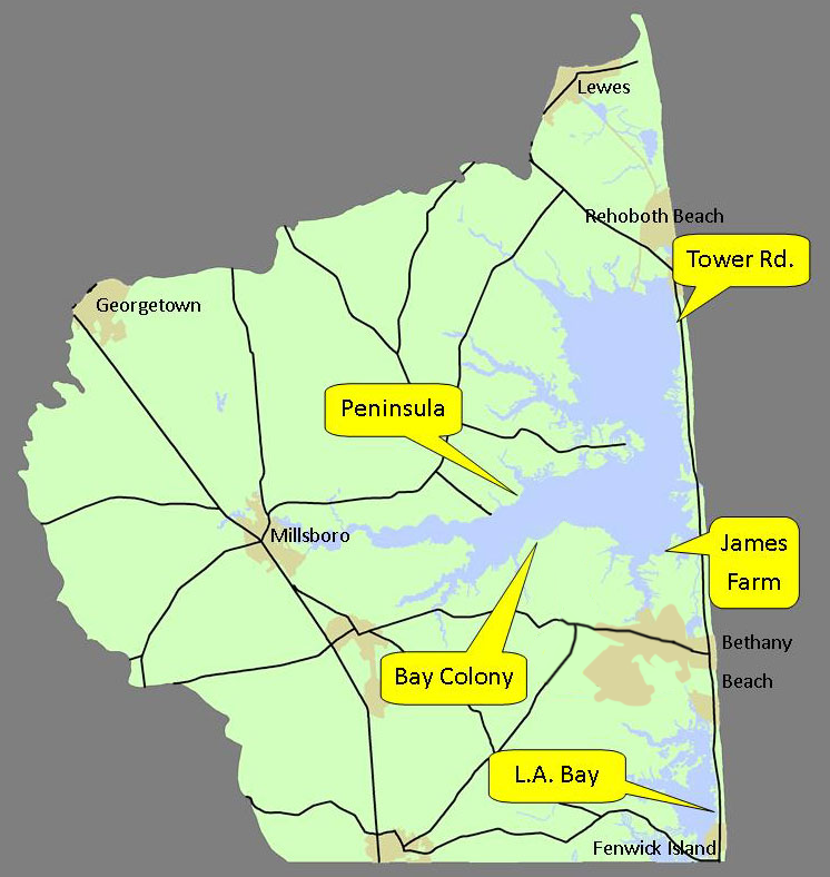 Survey Locations - click to enlarge
